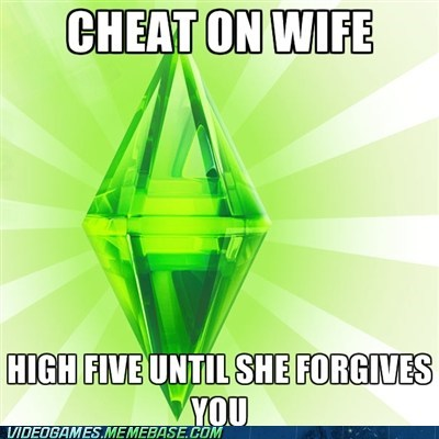 high fives,Memes,The Sims