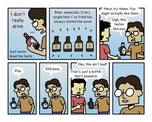 beer surprising pee comic