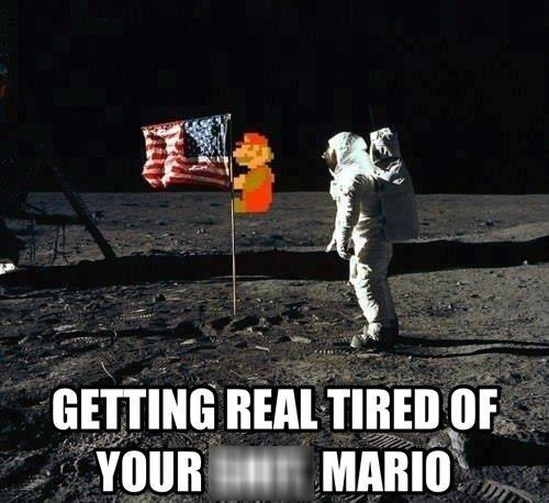 the moon astronauts mario nintendo space - 7148288256