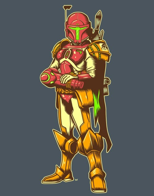 crossover samus star wars Metroid mash ups nintendo boba fett - 7148340480