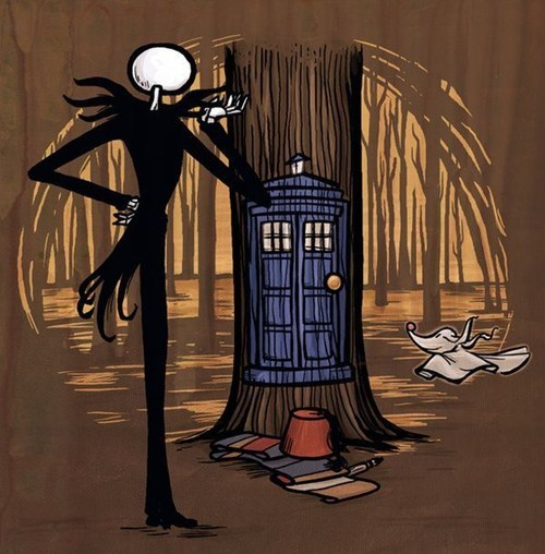mashup,Fan Art,jack skellington,tardis,the nightmare before christmas,doctor who