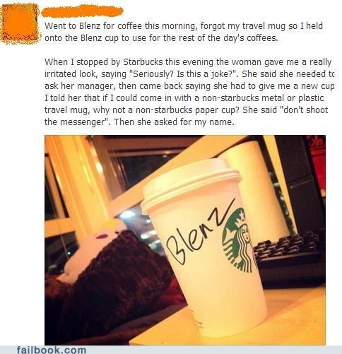 blenz coffee trolling Starbucks failbook g rated - 7148566272