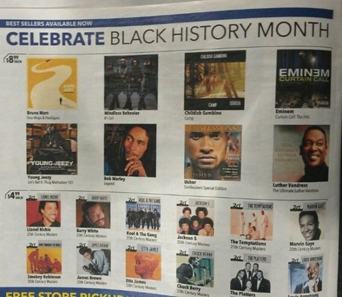 advertisement eminem Black History Month newspaper fail nation g rated