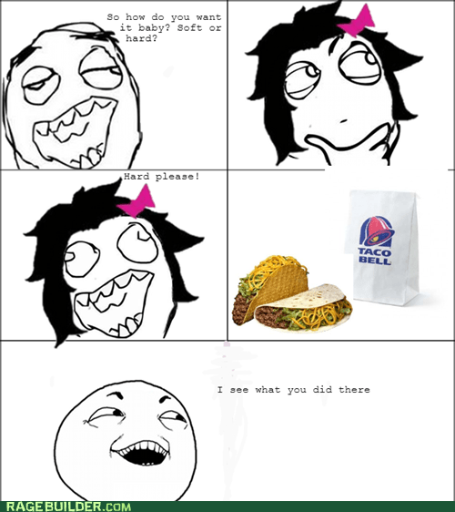 taco bell,soft shell taco,I see what you did there,hard shell taco