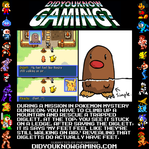Pokémon,did you know gaming,feey,mystery dungeon,diglett wednesday,diglett
