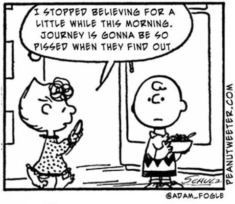 journey peanuts dont-stop-believing charlie brown - 7148845568