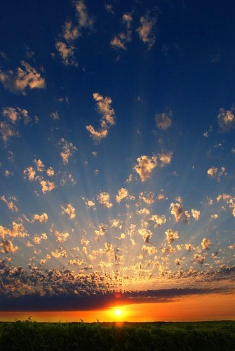 clouds sky sunrise landscape