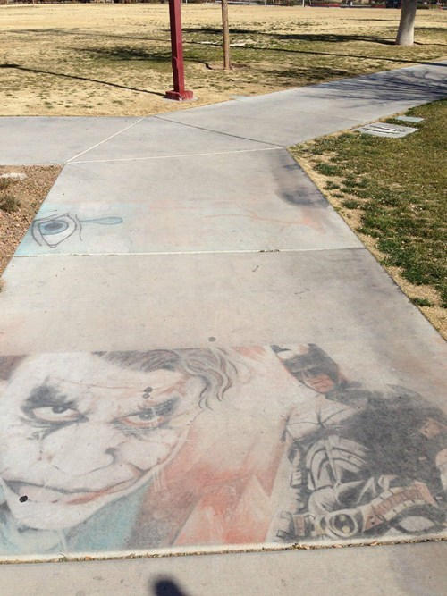 Street Art,nerdgasm,chalk art,batman