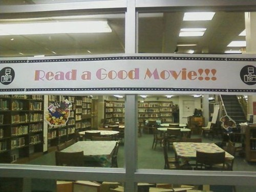 reading is sexy,Movie,clever,library