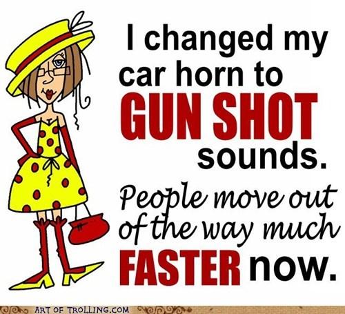 gun shots car horn driving - 7149129728