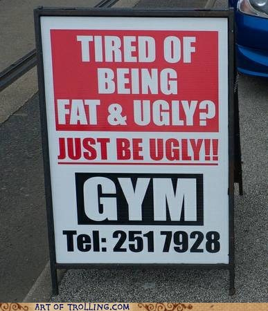 weight loss gym fitness exercise gym troll ugly