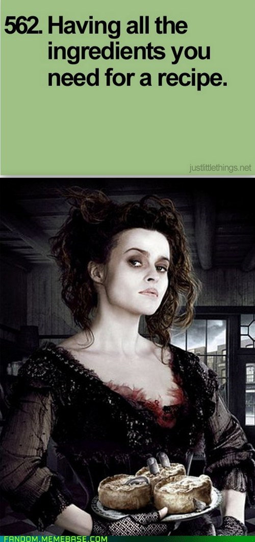 cooking,just little things,sweeny todd