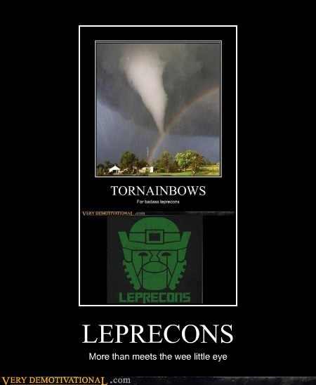 transformers,wtf,leprechauns,rainbow