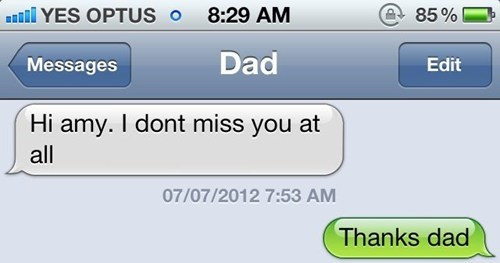miss you troll dad dad texting
