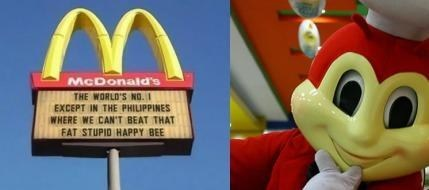jollibees signs McDonald's monday thru friday g rated