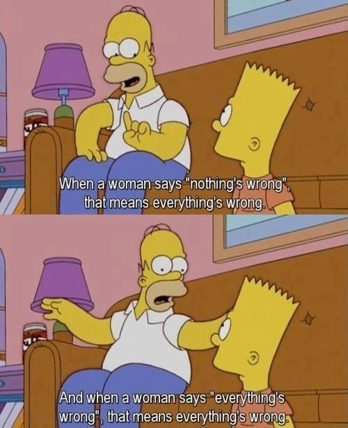homer simpson whats-wrong advice the simpsons women - 7150377728