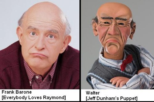 frank barone,walter,totally looks like,puppets
