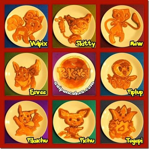 Pokémon,IRL,cute,pancakes
