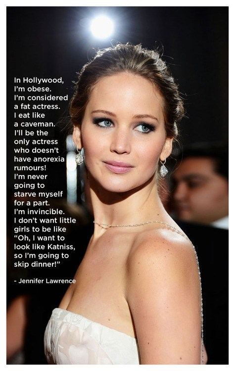 weight jennifer lawrence health quote - 7150631680