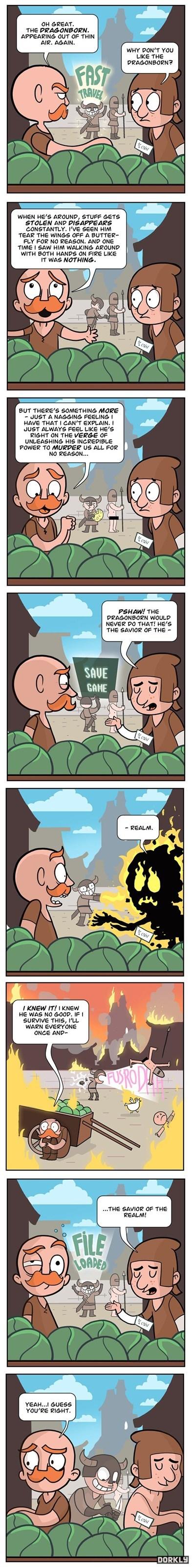 dorkly comics deja vu Skyrim - 7150645760