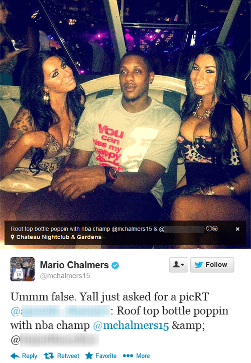 nba mario chalmers clubbin miami heat basketball failbook
