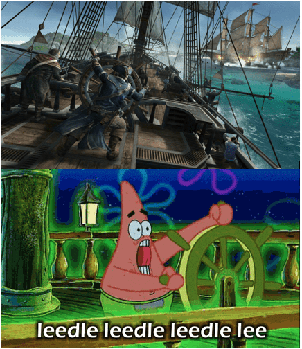 SpongeBob SquarePants,naval battles,assassins creed,assassins-creed-iii,patrick