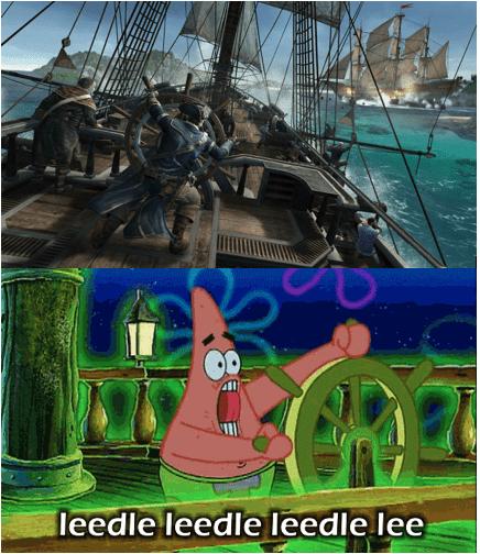 SpongeBob SquarePants naval battles assassins creed assassins-creed-iii patrick - 7150765568