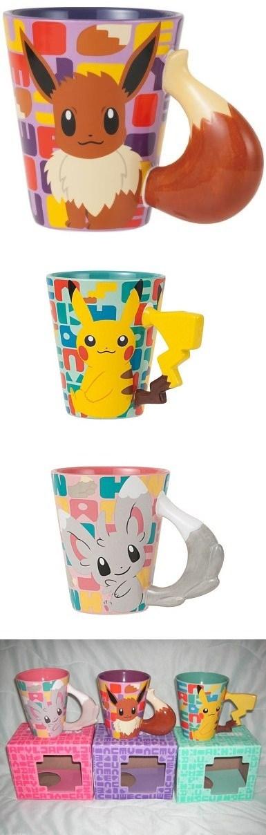 Pokémon,eevee,mugs,pikachu,Japan,minccino