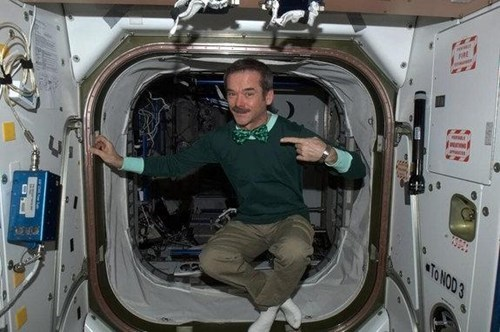 chris hadfield,St Patrick's Day,ISS