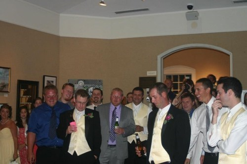 garter toss bachelors receptions - 7150945024