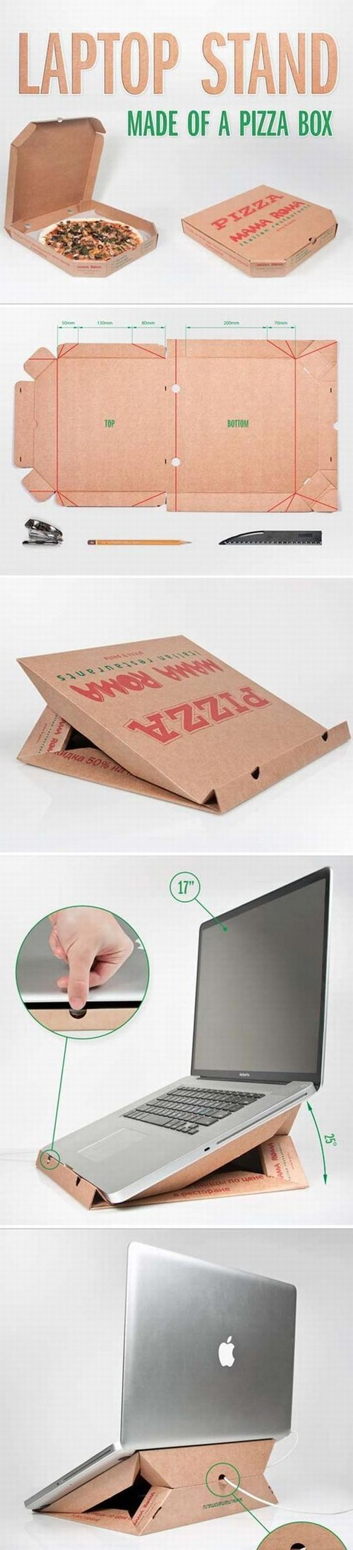 laptops pizza boxes DIY