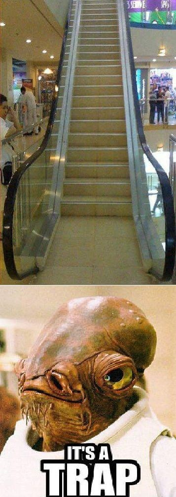 its a trap star wars escalators stairs - 7151019264