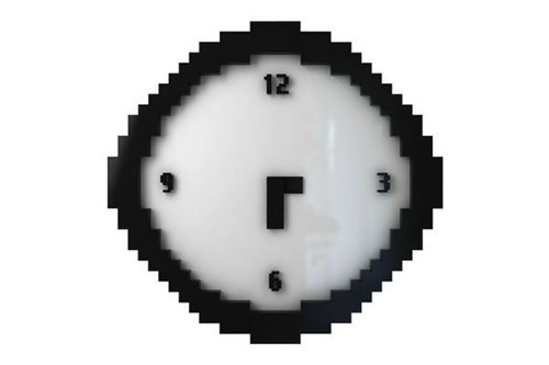 design,pixels,clock