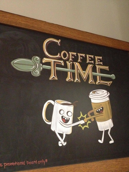 sign,coffee,adventure time