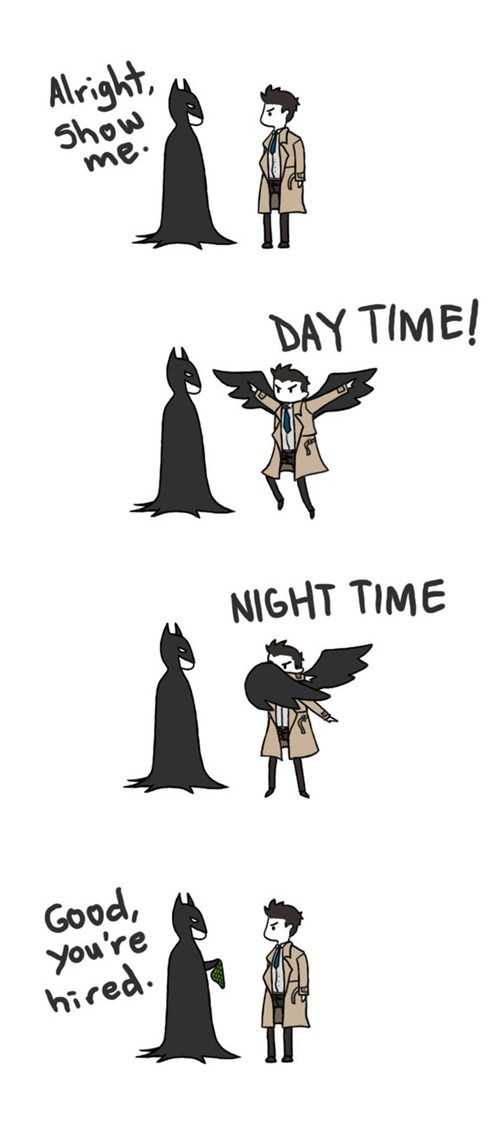 crossover,Fan Art,Supernatural,batman