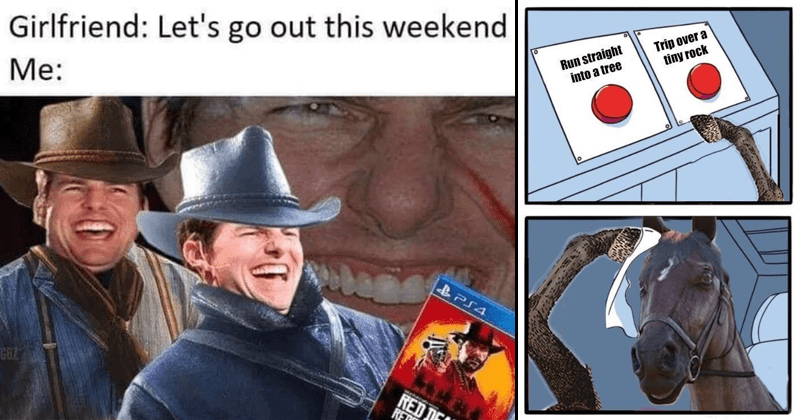 Memes about Red Dead Redemption 2 for Playstation 4 and Xbox One