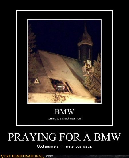 its-raining-men,church,bmw
