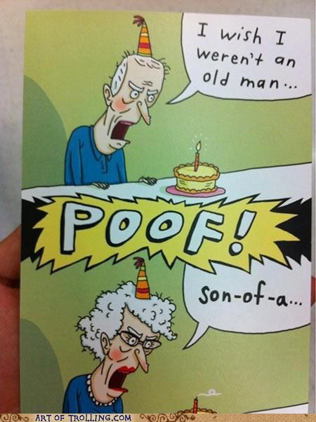 old man,birthday card,old lady,elderly