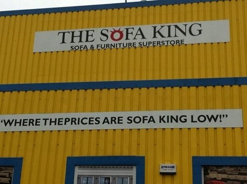 furniture sofas signs puns