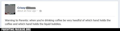 blowing bubbles coffee bubbles