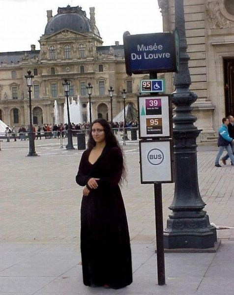 louvre look alikes mona lisa poorly dressed g rated - 7153243904
