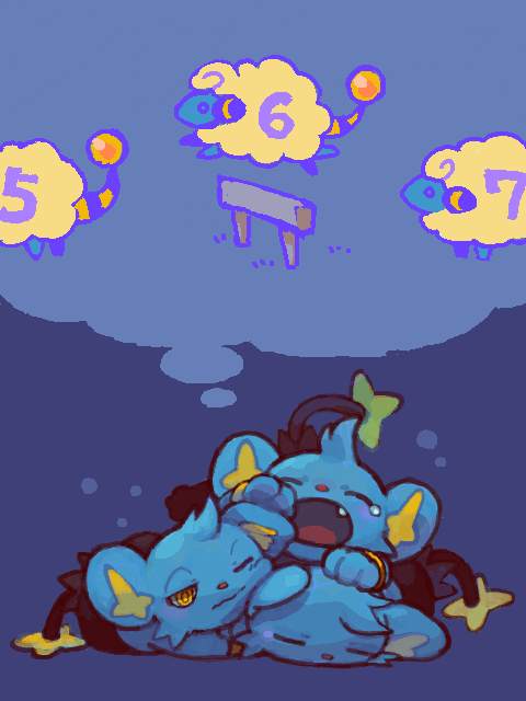 mareep,counting sheep,shinx
