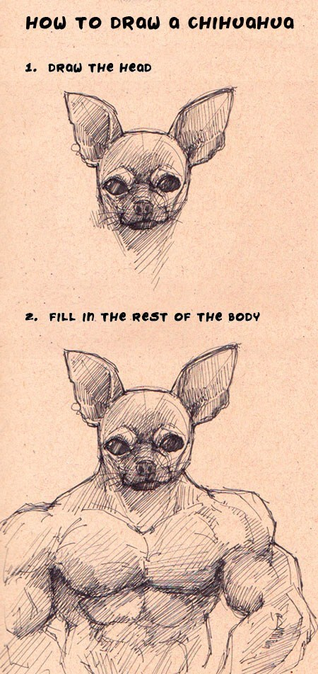 drawing chihuahua - 7153294336