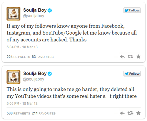 Hack of the Day: Hacker Wipes Out Soulja Boy's Music Videos