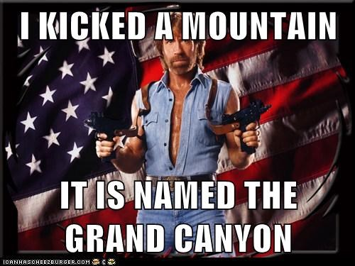 chuck norris joke,grand canyon