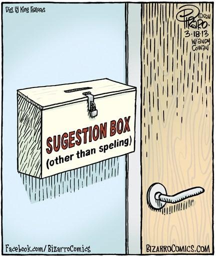 spelling suggestion box web comics
