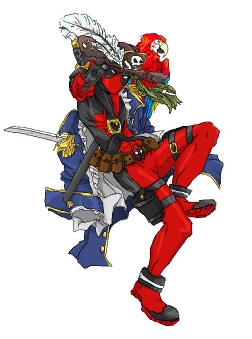 art deadpool Pirate