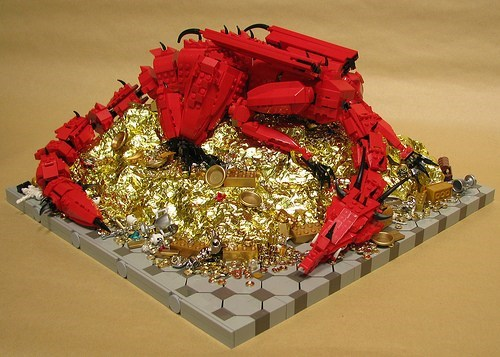 lego,Fan Art,dragons,The Hobbit