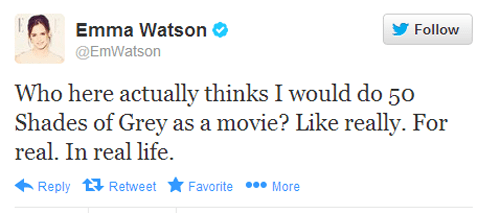 twitter,fifty shades of grey,emma watson