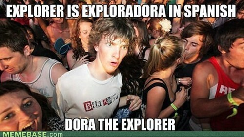 spanish,fora the explorer,cartoons,sudden clarity clarence